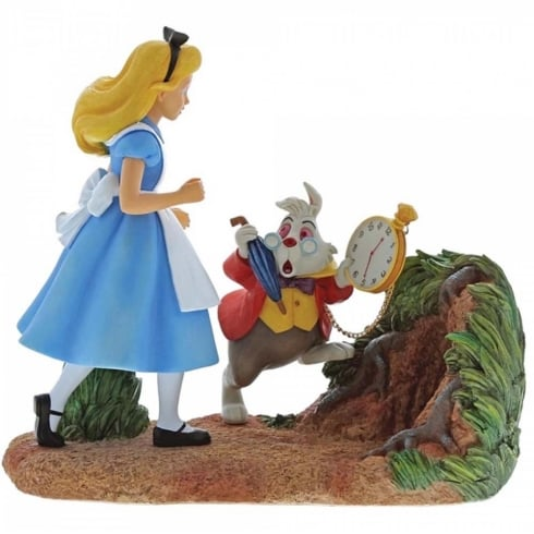Disney Enchanting Collection Mr. Rabbit Wait - Alice In Wonderland Figurine