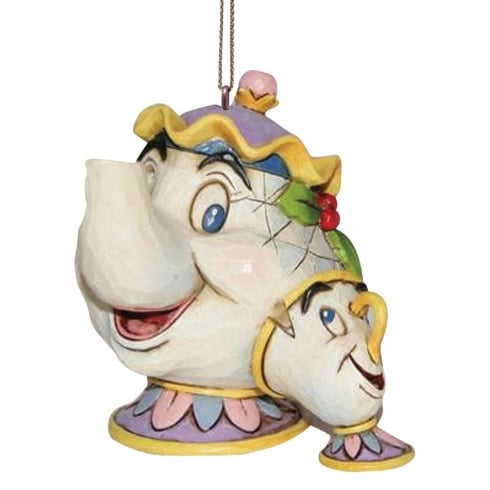 Disney Traditions Mrs Potts and Chip Hanging Ornament Beauty and The Beast