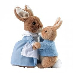 Mrs Rabbit & Peter Soft Toys Set of 2