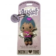 Mum I (Heart) You Angel Keyring
