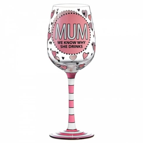 Our Name Is Mud Mum Wine Glass