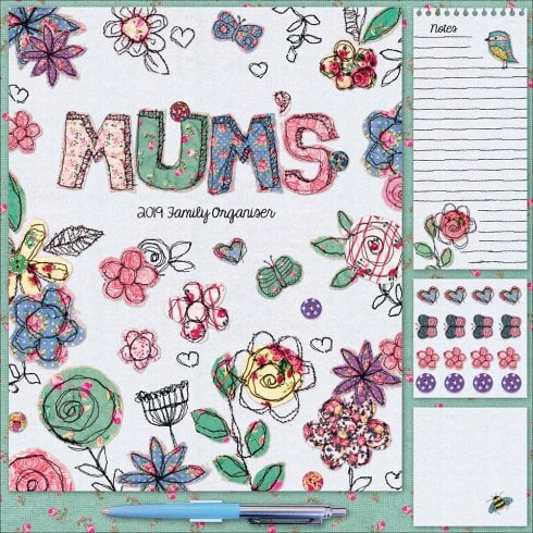 Mums Fabric Household Wall Planner 2019