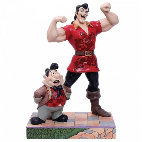 Disney Traditions Muscle-Bound Menace Gaston & Lefou