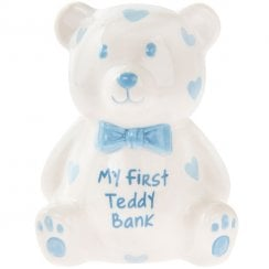 My First Teddy Money Bank Blue Small