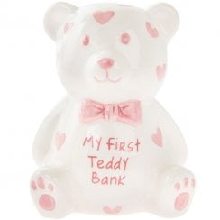 My First Teddy Money Bank Pink Small