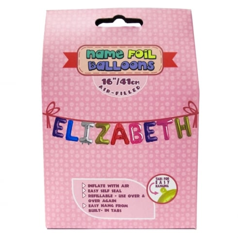 Royal County Products Name Foil Balloons Elizabeth
