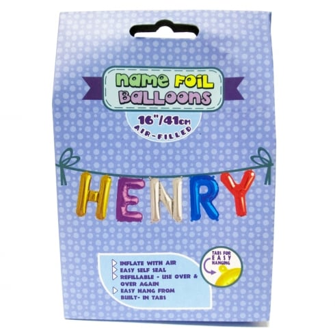 Royal County Products Name Foil Balloons Henry