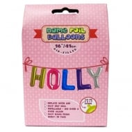 Name Foil Balloons Holly