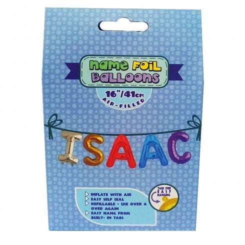 Royal County Products Name Foil Balloons Isaac