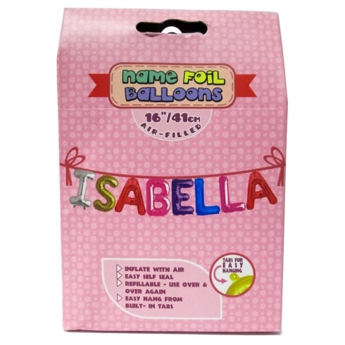 Royal County Products Name Foil Balloons Isabella