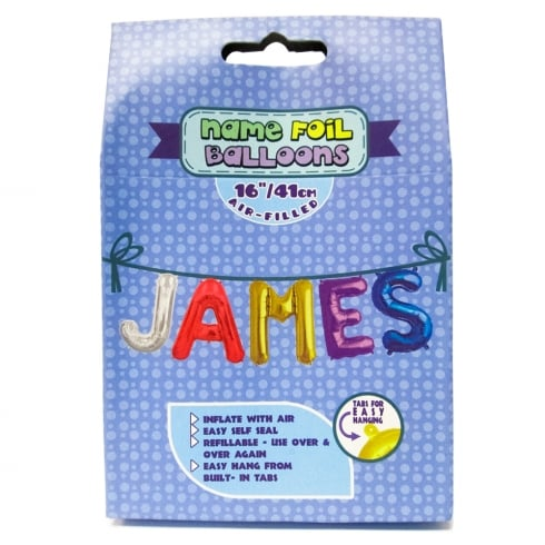 Royal County Products Name Foil Balloons James