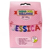 Name Foil Balloons Jessica