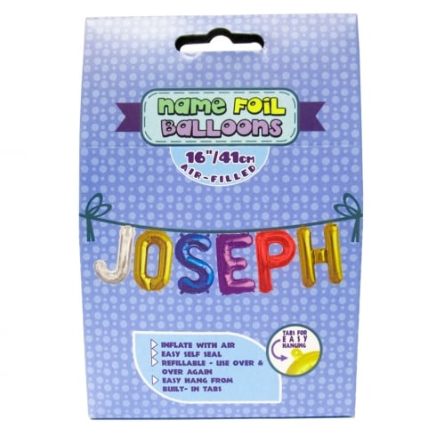 Royal County Products Name Foil Balloons Joseph