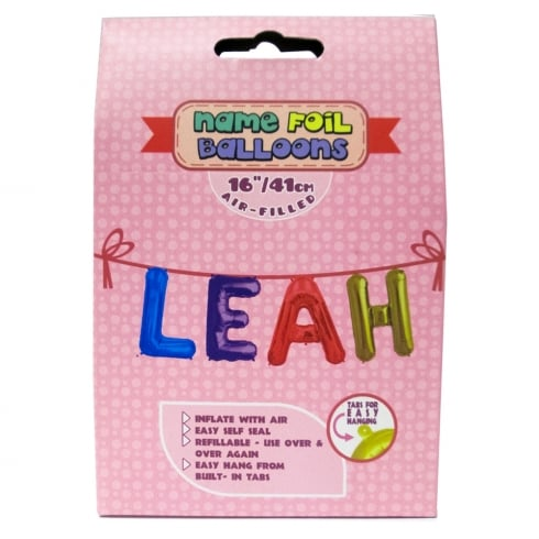 Name Foil Balloons Leah