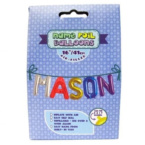 Royal County Products Name Foil Balloons Mason