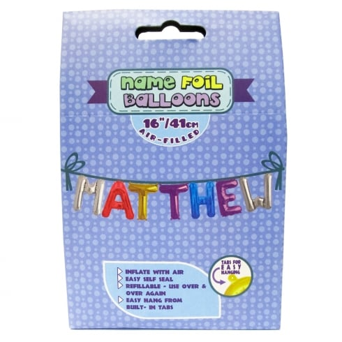 Royal County Products Name Foil Balloons Matthew
