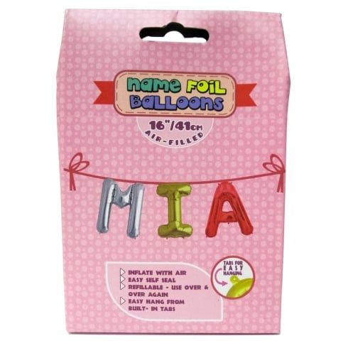 Royal County Products Name Foil Balloons Mia