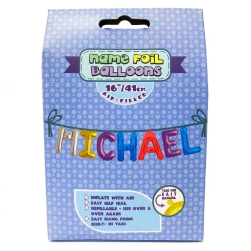 Royal County Products Name Foil Balloons Michael