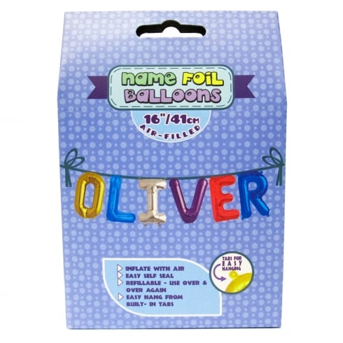 Royal County Products Name Foil Balloons Oliver