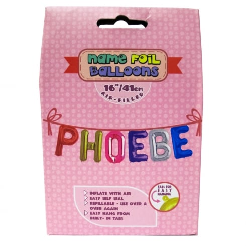 Royal County Products Name Foil Balloons Phoebe