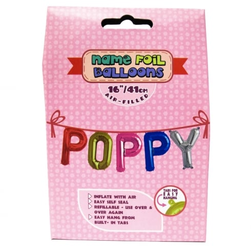 Royal County Products Name Foil Balloons Poppy