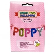 Name Foil Balloons Poppy