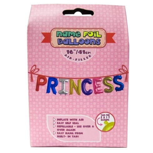Royal County Products Name Foil Balloons Princess