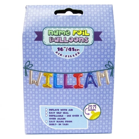 Royal County Products Name Foil Balloons William