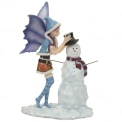Natasha Faulkner Christmas Fairy Fun In The Snow Figurine