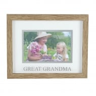 Natural Wood Effect Great Grandma 6 x 4 Photo Frame