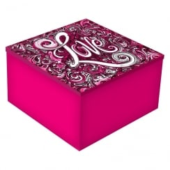 Pink & Black Love Mirror Keepsake Box