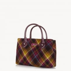 Ness - Ebony Handbag - Woodland Walk - Classic Tweed