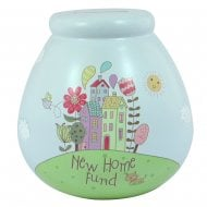 New Home 2 Ceramic Money Pot