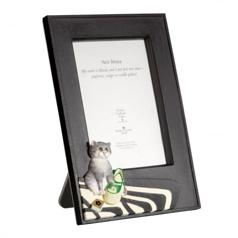 Comic & Curious Cats New Shoes Photo Frame