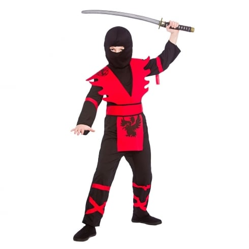 Wicked Costumes Ninja Assassin - Black/Red (11-13) X Large