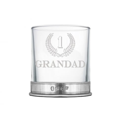 English Pewter No1 Grandad 11oz Single Tumbler