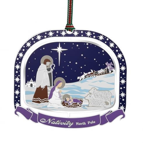 Newbridge Silverware North Pole Nativity Scene Hanging Decoration