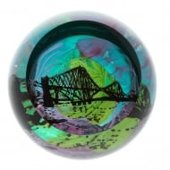 Northern Aurora Forth Bridge Paperweight
