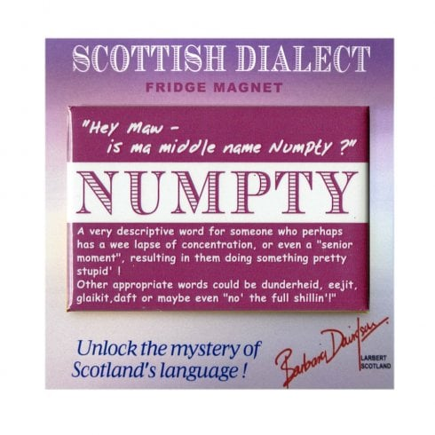 Scottish Dialect Numpty Magnet