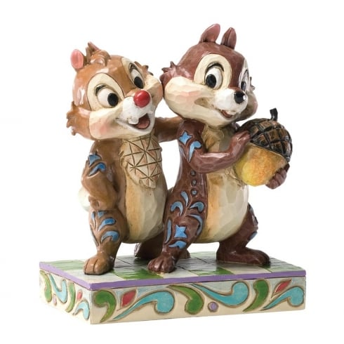 Disney Traditions Nutty Buddies Chip and Dale Figurine