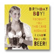 Nutty Neon - Birthday Boy Likes Beer Card LN881A