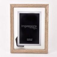 Oak Finish Wooden Frame Perspex Border 4 x 6