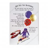 Och Its Yer Shopaholic Scottish Birthday Card