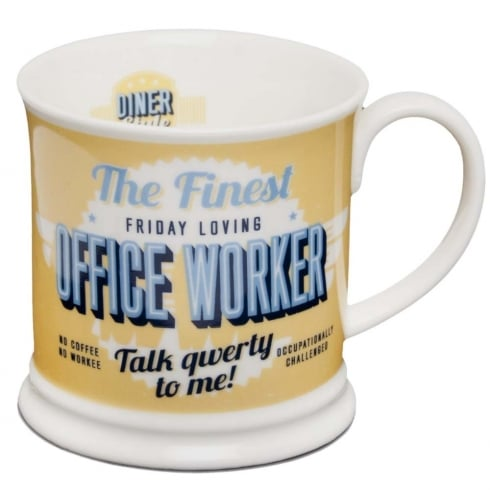 Diner Style Mugs Office Worker