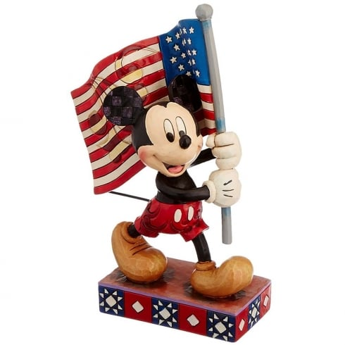 Disney Traditions Old Glory Mickey Mouse With Flag
