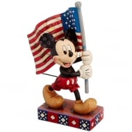 Old Glory Mickey Mouse With Flag