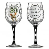 OMG Youre 30 Wine Glass