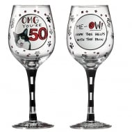 OMG Youre 50 Wine Glass