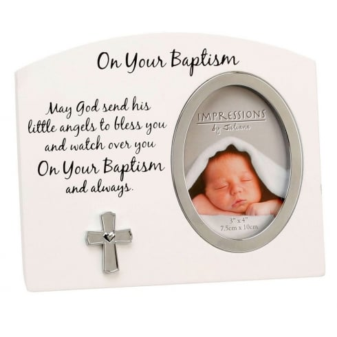 Impressions By Juliana On Your Baptism 3 x 4 Photo Frame