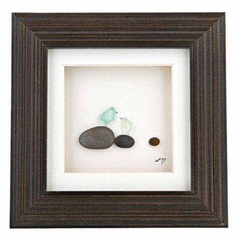 Sharon Nowlan Collection Once Upon A Pebble Wall Art 6 x 6